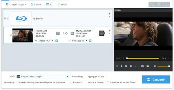 transformer un Blu ray en fichier M4V