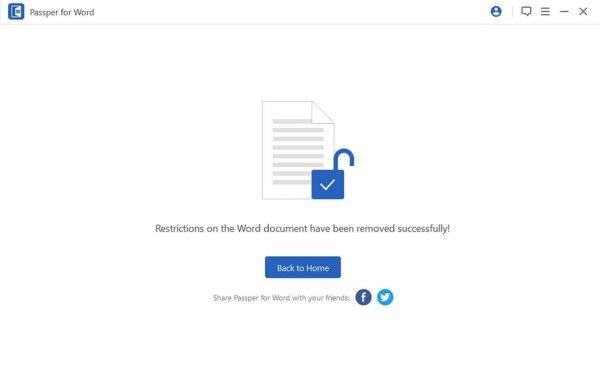 supprimer mot de passe word