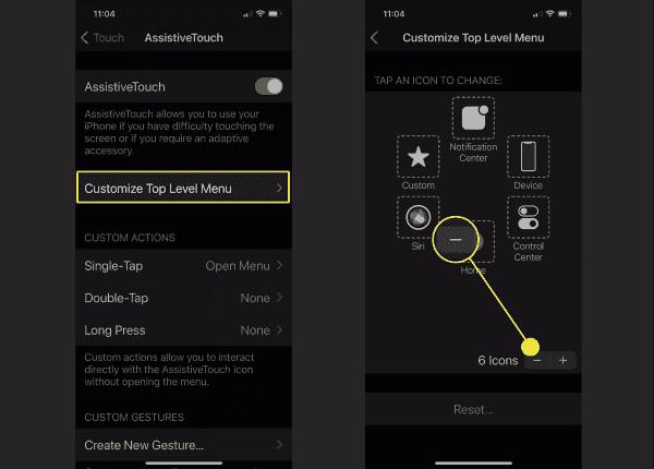 comment enlever le bouton home virtuel sur iphone