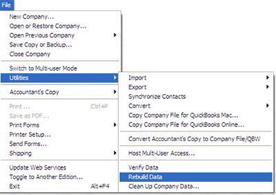 Réparer les fichiers QuickBooks Corrompus