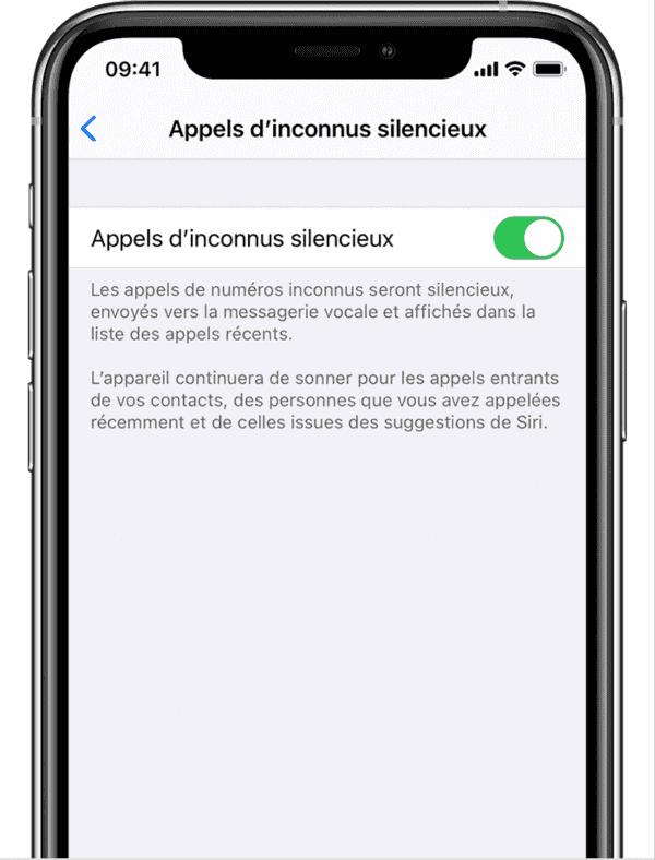 Bloquer Un Appel Inconnu sur iPhone