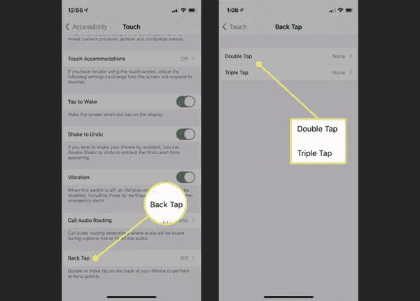 Comment utiliser le Back Tap sur iPhone