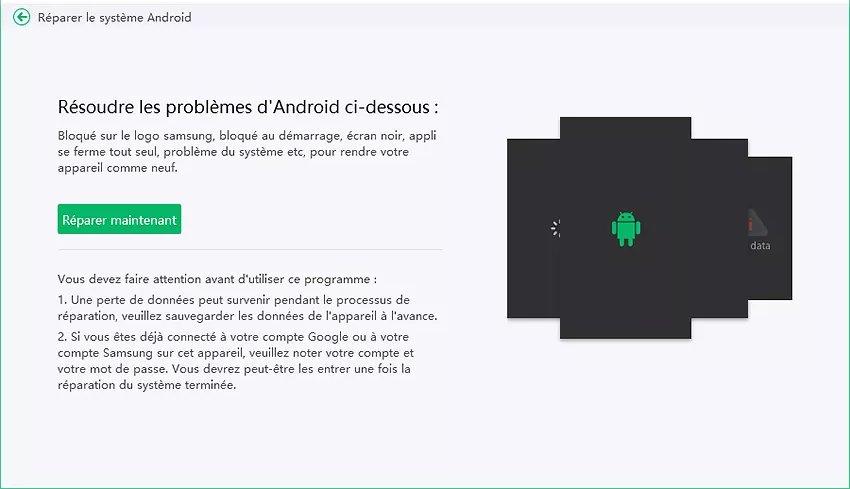 choisir réparer android