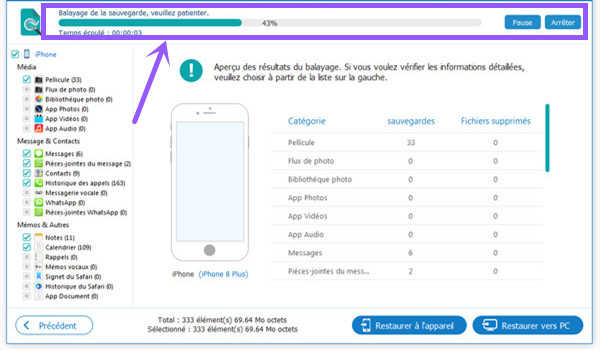 sauvegarder notes iphone sur pc