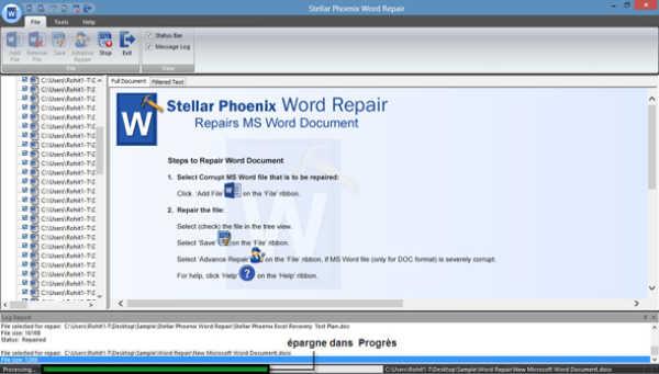 réparer un fichier word