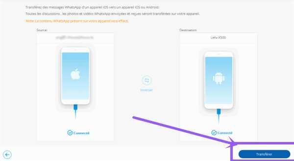copier whatsapp iphone sur samsung
